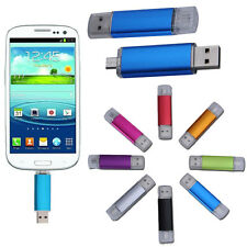 8GB USB & Micro USB Flash Drive Memory Stick Pen w/ OTG For Android Tablet Phone