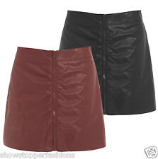 BNWT Womens SEXY Faux Leather Skirt Ladies PU Mini Skirt Sizes 8 10 12 14 NEW