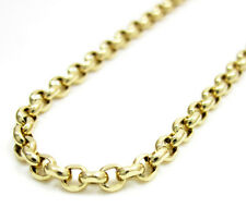 """14K Yellow Gold Circle Italy Bead Round Mens Ladies Chain Necklace 2.5mm 16-30"""""""