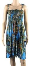 Dress Womens Size Small Medium Large Xlarge Blue Sleeveless Knee-Length Spandex
