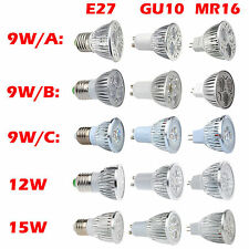 12W 4x3W MR16/GU10/E27 LED Light Spotlight Bulb Lamp Downlight Warm/Cool White