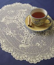 Heritage Lace Floret Placemat or Doily, 14x20, Ecru or White, 1 or Set, Floral