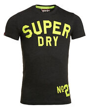 New Mens Superdry Factory Second Coaching 23 T-Shirt Charcoal Marl