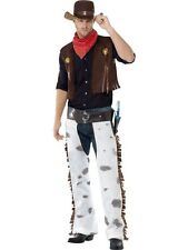 Adult Cowboy Fancy Dress Costume Wild Western Mens Gents Male