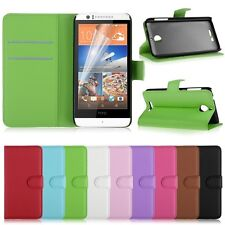 Leather Flip Case Wallet Stand Cover W/ Card Slot For HTC Desire 510 + Free Film