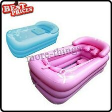 NEW INFLATABLE BATH TUB WITH ZIPPER COVER DRINK HOLDER