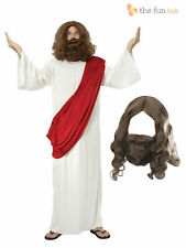 Jesus + Wig + Beard Religious Mens Fancy Dress Christmas Adult Costume Outfit