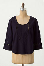 NWT Anthropologie MOULINETTE SOEURS Eyelet Embroidered Lace Tunic Top Sz 2
