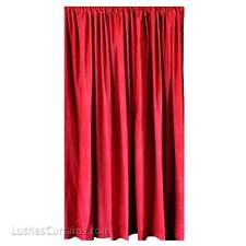 Red Velvet Curtain 20 ft H Extra Length Panel Hollywood Theatrcial Regency Drape