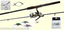 Pike / Perch  Fishing Spinning Kit-Rod,Reel,Line,Spinners,Plugs,Traces,Forcepst