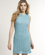 New Womens Superdry Hepburn Havana Dress Aqua Blue