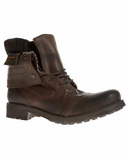 New Mens Superdry Prospector Boots Brown Leather