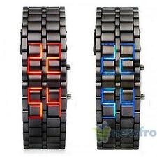Volcanic Lava Iron Samurai Metal Faceless Bracelet Fashion LED Metal Wrist Watch