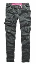 New Womens Superdry Skinny Cargo Pant Trousers Sniper Camo Green