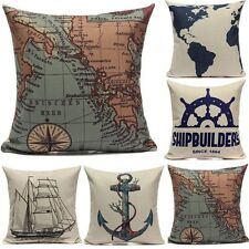 Retro Europe Style Cushion Cover Throw Pillow Case Home Beach Hotel Room Decor