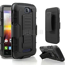 Rugged Armor Hybrid Case Hard Cover Holster For Alcatel One Touch Pop Icon 7040T
