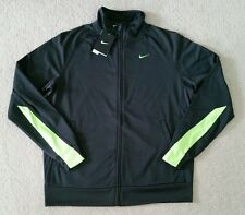 $65 Nike Dri-Fit Women's SMALL or LARGE Warm Up Zip Jacket Gray Green 5K814