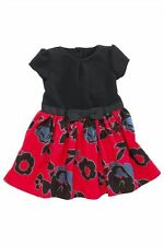 Bnwt NEXT Girls Gorgeous Red Black Floral Party Dress 3-4-5-6 yrs