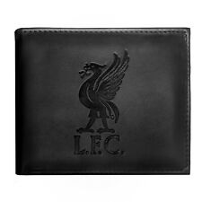 Liverpool Football Club Official Soccer Gift Embossed Crest Wallet Black
