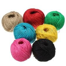 7 Color Wrap Gift Link Paper Tag Jute Burlap Ribbon Twine Rope Cord String 50M