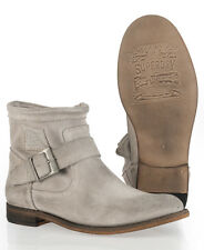 New Womens Superdry Eva Boots Suede Bianco White WFD1
