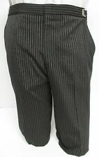 Boys' Gray Hickory Striped Morning Trousers Flat Front Victorian Tuxedo Pants