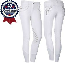 Harrys Horse Anniversary Silicon Knee Competition Breeches - White