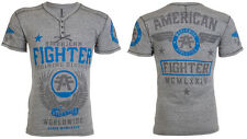 American Fighter AFFLICTION Men HENLEY T-Shirt FLY BY Tattoo Biker UFC M-3XL $44