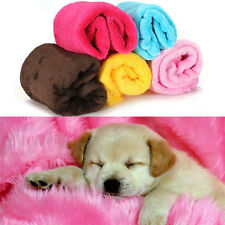 Warm Pet Dog Puppy Cat Mat Soft Fleece Blanket Quilt Bed Cushion Pad Cozy Cover