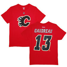Calgary Flames Johnny Gaudreau Red Name and Number T-Shirt