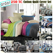 250TC Cotton Quilt Cover Set New Design by Ardor - SINGLE DOUBLE QUEEN KING