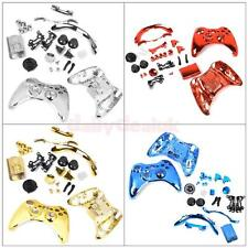Chrome Metal Plated Full Housing Shell Case Kit Parts for Xbox 360 Controller