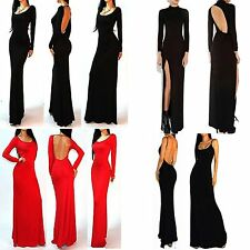 Super Sexy Women ❤Pencil❤Bodycon❤Backless Evening Ball Gown Long Dresses Red M L