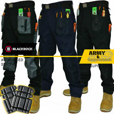 Blackrock Baratec Work Trousers Multi Pocket Pant Triple Stitched FREE KNEE PADS