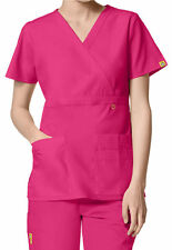 Wink Medical Scrub Hot Pink Origins Mock Wrap Top Top Sz XS-XXL NWT