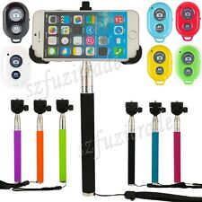 Extendable Monopod Mount Holder&Bluetooth Camera Shutter For iPhone 6 Plus 5.5
