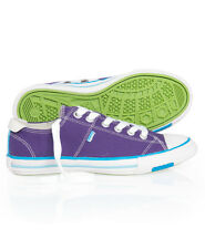 New Womens Superdry Super Series Lo Top Trainers Lex Purple
