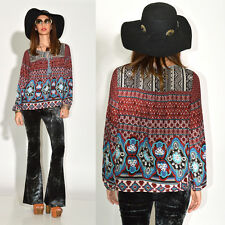 VTG 70s Inspired INDIA style Hippie Boho Peasant Festival Tunic Top Blouse