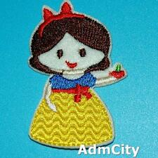 1 Snow White Apple Iron on Sew Patch Beauty Embroidery Applique Badge Cute Girl