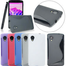 Flexible Soft S Wave Rubber Gel TPU Case Cover Skin for Google LG Nexus 5 D820