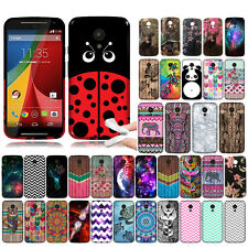 For Motorola Moto G 2nd Gen 2014 XT1068 Aztec TPU SILICONE Rubber Case Cover