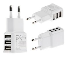 3 Ports EU Plug USB Wall Travel AC Charger Adapter For iPhone Samsung i Pad Tabs