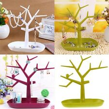 Fashion Jewelry Display Earring Necklace Ring Tree Stand Show Rack Holder