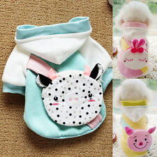 With Pig Rabbit Snack Bag Cat Dog Clothes Warm Thick Cotton Pup Pet Clothes Coat