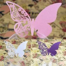 Fashion 50 Pcs Butterfly Place Escort Wine Glass Paper Card Wedding Party Bar