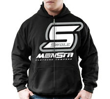 Gildan Mens Workout MONSTA Bodybuilding Clothing Hoodie Swole Zipper Sweatshirt