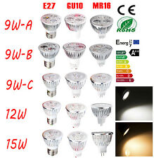 LED Light Energy Saving Globe Bulb Spot Lamp 9W 12W 15W High Power E27 GU10 MR16