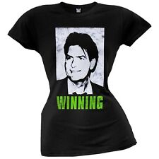 Charlie Sheen - Winning Juniors T-Shirt