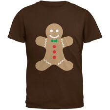 Christmas Gingerbread Man Brown Youth T-Shirt Top