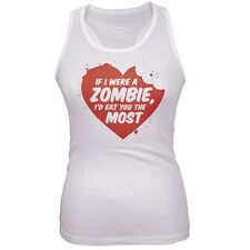 Valentine's Day - If I Were A Zombie Juniors Tank Top